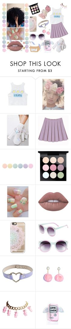"""D-O-L-L-H-O-U-S-E, I see things that nobody else see"" by mermaid-crybaby ❤ liked on Polyvore featuring WithChic, Vox Populi, ROC, Deborah Lippmann, MAC Cosmetics, Lime Crime, Casetify, Tildon, Skinnydip and anime"