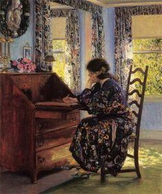 """Love Letter"", Guy Orlando Rose. American Impressionist Painter (1867-1925)"