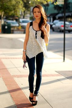 New top - c/o Minted Republic, jeggings - Forever 21, heels - Steve Madden Dynemite, purse - Big Buddha, sunnies - c/o LYLIF, watch - Style & Co., Love bracelet- Mimi's Boutique, necklace - Aldo