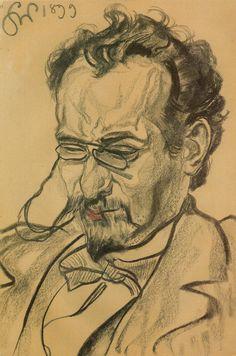 Stanisław Wyspiański, Portret Antoniego Langego  |  1899, węgiel, papier, 41,3 × 27,5 cm, Muzeum Narodowe w Krakowie