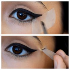 Tip/secret to perfect winged eyeliner. This is how I learned how to do it. The basics. Tip/secret to perfect winged eyeliner. This is how I learned how to do it. The basics. Perfect Winged Eyeliner, Winged Eyeliner Tutorial, Simple Eyeliner, How To Apply Eyeliner, Winged Liner, Eyeliner Hacks, Eyeliner Styles, Eyeliner Ideas, Eyeliner Pencil