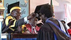 President Mugabe Caps 182 Harare Institute of Technology Students; Education Affairz