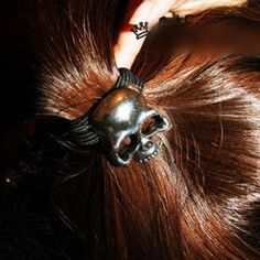 Buy wholesale Cool Antique Bronze Skull Ponytail Holder and other cheap fashion hair accessories for women and girls.Mix wholesale more trendy fashion hair accessories from yiwu,China. Ring Necklace, Earrings, Metal Skull, Ponytail Holders, Hair Accessories For Women, Cheap Fashion, Hair Ties, Hair Band, Baby