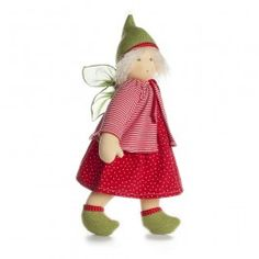 "Faye - Waldorf Fairy Doll is handmade in Germany of organic cotton and pure wool. 15"" tall. From Bella Luna Toys."