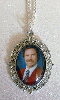 Will Ferrell Anchorman Cameo Necklace. £4.99, via Etsy.