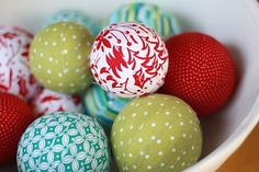 cute fabric covered balls