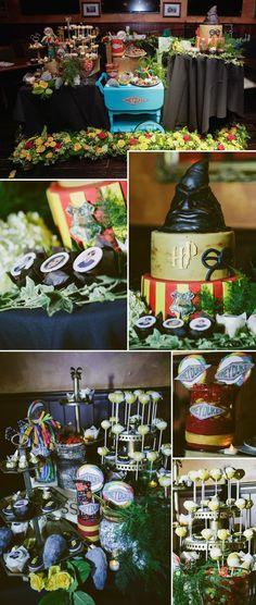 Harry Potter Hochzeit Candybar