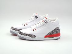 11c918b3ce838d Kid s Nike Air Jordan 3 Retro BG Size 4.5Y (398614 116) White