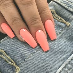 Are you looking for summer nails colors designs that are excellent for this summer? See our collection full of cute summer nails colors ideas and get inspired! Summer French Nails, Cute Summer Nails, Summer Acrylic Nails, Best Acrylic Nails, French Tip Nails, Nail Summer, Coral Acrylic Nails, Colorful Nail Designs, Cute Nail Designs