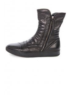 Bruno #Bordese W401 Zipped Biker Boot in Black. Designer men's #leather boots at Intro Clothing