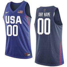 USA Basketball Nike Rio Elite Replica Custom Jersey - Royal. Usa HockeyTeam  Usa BasketballBasketball ShirtsOlympic ... ea55b01e67438
