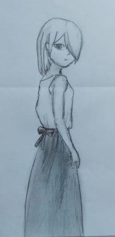 Girl cute anime draw drawing
