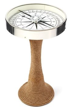 Two's Company Compass Accent Table