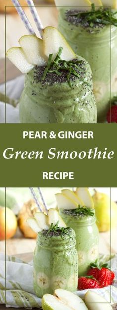 Did your resolutions include enjoying a better breakfast? This green smoothie recipe with pears and ginger will definitely brighten up your morning.