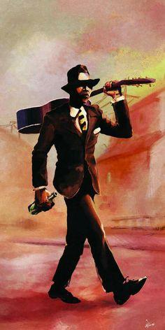 King of the Delta Blues Robert Johnson, Delta Blues, Rock Poster, Blue Poster, Blues Artists, Music Artists, Arte Do Hip Hop, Arte Punk, Jazz Art