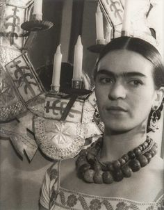 Carl Van Vechten, Frida Kahlo, March 19, 1932 Archival pigment print, 13.50 x 10.50 inches Hammond Museum permanent collection Co...