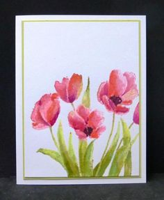 *WT473 Tulips by hobbydujour - Cards and Paper Crafts at Splitcoaststampers