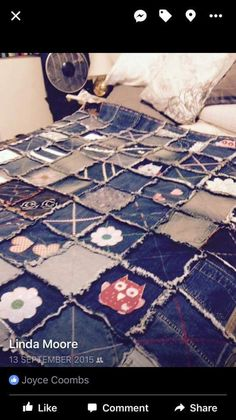 Gorgeous denim patchwork