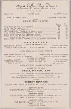 What Was On The Menu At LaGuardia Airport In 1941