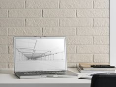 Home office wall design decor with Brick Generation by Ceramica Rondine. Brick Effect Tiles, Brick Tiles, Mosaic Tiles, Wall Tiles, Office Wall Design, Thin Brick, Italian Tiles, Brooklyn Heights, Tile Projects