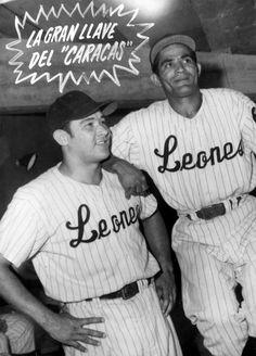 La dupla de oro de los Leones del Caracas: El Chico Carrasquel y Pompello Davalillo. | Créditos: Archivo Cadena Capriles