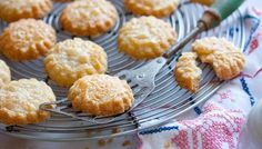 Parmesan biscuits.  Add a slice of jalapeno to the top before sprinkling with parmesan for an extra kick.