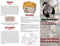 Tri-fold brochure designed for Inside Books