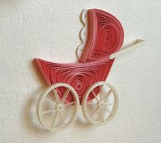 Red Baby Carriage - by: Quilling with Fun: November 2011
