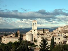 Assisi, Italy ... the entire village was built with local stone... pink in color... so lovely...