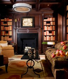 All 450 Hardbacks In The Mahogany Paneled Room Are Covered Four Coordinating Shades Of