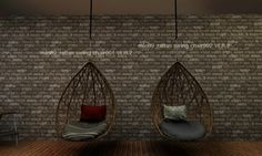 Rattan swing chair ver.2 by Mio89 - Sims 3 Downloads CC Caboodle