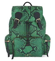 BURBERRY - Python print nylon backpack | Selfridges.com
