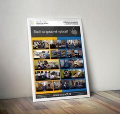 První verze designu plakátu o formátu A1. Jedná se o nabídku oborů na Střední škole.
