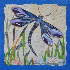 Mosaic Art - Tropical Dragonfly- Handmade Mosaic Wall Art - Unique Mosaic Artworks | #Mozaico