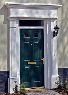 Ideas Exterior Door Frame Molding Entrance For 2019 Front Door Molding, Front Door Trims, Front Door Steps, Front Door Entrance, Front Entrances, House Entrance, Best Front Door Colors, Best Front Doors, Georgian Doors