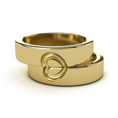 the two halves of one heart wedding bands - Heart Wedding Ring