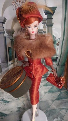 *FALL BLAZE* Silkstone Vintage Repro Barbie Victoire R FR OOAK Clothes by Mary | eBay