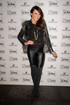 Lizzie Cundy attends the Natural History Museum Swarovski Ice Rink Launch at Natural History Museum on October 28 2015 in London England