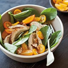Fava Greens with Chicken, Pecans and Kumquats | Williams-Sonoma
