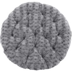 Pier 1 Imports Fuzzy Charcoal Papasan Cushion ($90) ❤ liked on Polyvore featuring home, home decor, throw pillows, grey, gray throw pillows, gray home decor, grey throw pillows, pier 1 imports and grey home decor