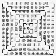 Transcendent Crochet a Solid Granny Square Ideas. Inconceivable Crochet a Solid Granny Square Ideas. Crochet Pillow Patterns Free, Crochet Motifs, Granny Square Crochet Pattern, Crochet Blocks, Crochet Diagram, Crochet Stitches Patterns, Crochet Chart, Crochet Squares, Crochet Granny