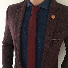 """Outfit details at SuitedManStyle.com | Denim shirt and accessories by SuitedMan.com | #suitup @SuitedManStyle"""