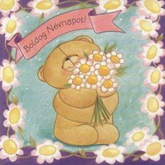 Névnap 9 Name Day, Friends Forever, Winnie The Pooh, Disney Characters, Fictional Characters, Birthdays, Happy Birthday, Teddy Bear, Valentin Nap