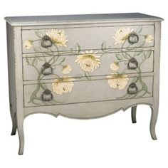 Art nouveau mums. This is beautiful and I normally hate painted furniture...