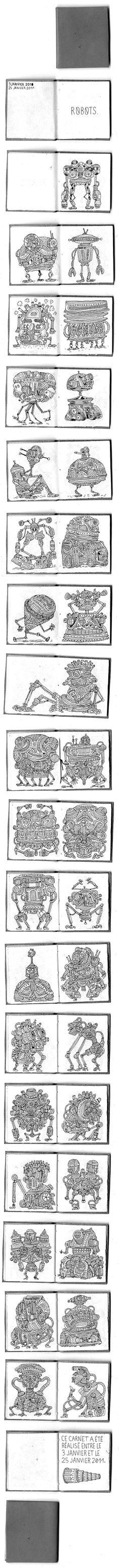 robots doodles  Feel free to visit Vincent Caut's blog.  http://blog-de-vincent.blogspot.com/2011/01/26-janvier-2011.html
