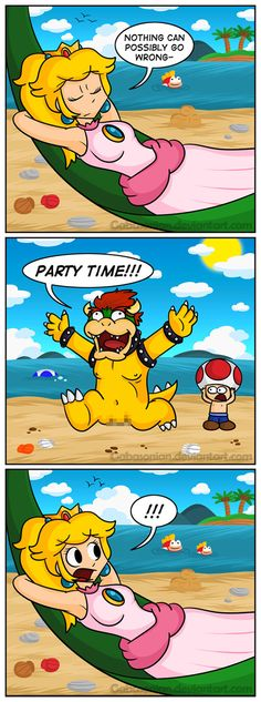 Bowser's Beach Badness by Gabasonian on DeviantArt