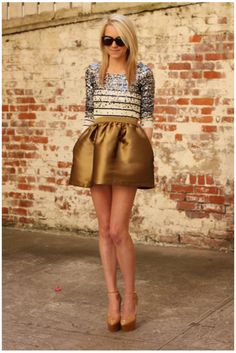 like the gold skirt, just needs to be a little longer