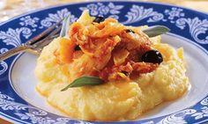 bacalhau com polenta