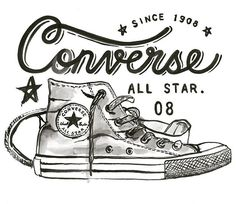 #TBT to the good ol #Converse days ⚡️🤘🏼👟Girls' graphic tee version available now on Nike.com!! . . . . . . . . . . . . . . . #typography #handlettering #lettering #type #typedesign #design #illustration #blackandwhite #pen #ink #typematters #artoftype #handmadefont #typespire #typographyinspired #typegang #letteringco #designspiration #typetopia #sketchbook #typeverything #goodtype #thedailytype #typechallenge #thedesigntip #watercolor #nike @jessicanam