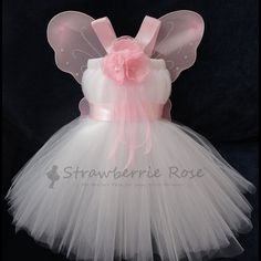 Tutu, Girls Fairy Costumes, Baby Fairy Costumes, Fairy Costumes, Pixie Costumes, Fairy Wings, Halloween Costumes by StrawberrieRose. $99.95, via Etsy.